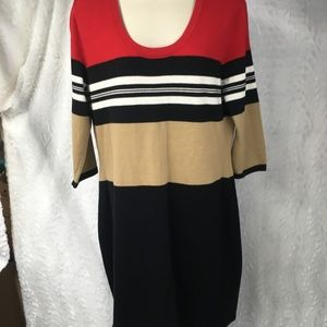 Womens Calvin Klein Dress Size L Striped Sweater r